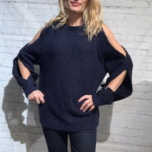 Line Knitwear Anita Sweater in Blue NWT Size Small